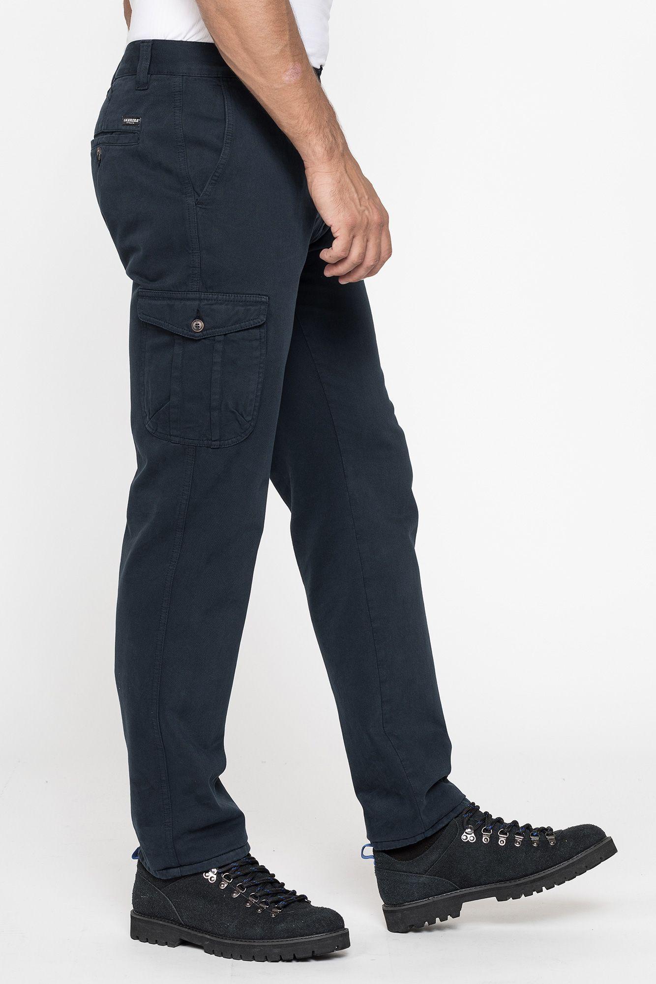 Carrera Pantalone Uomo Regular Cotone Invernale Cargo Tasconi Art.619