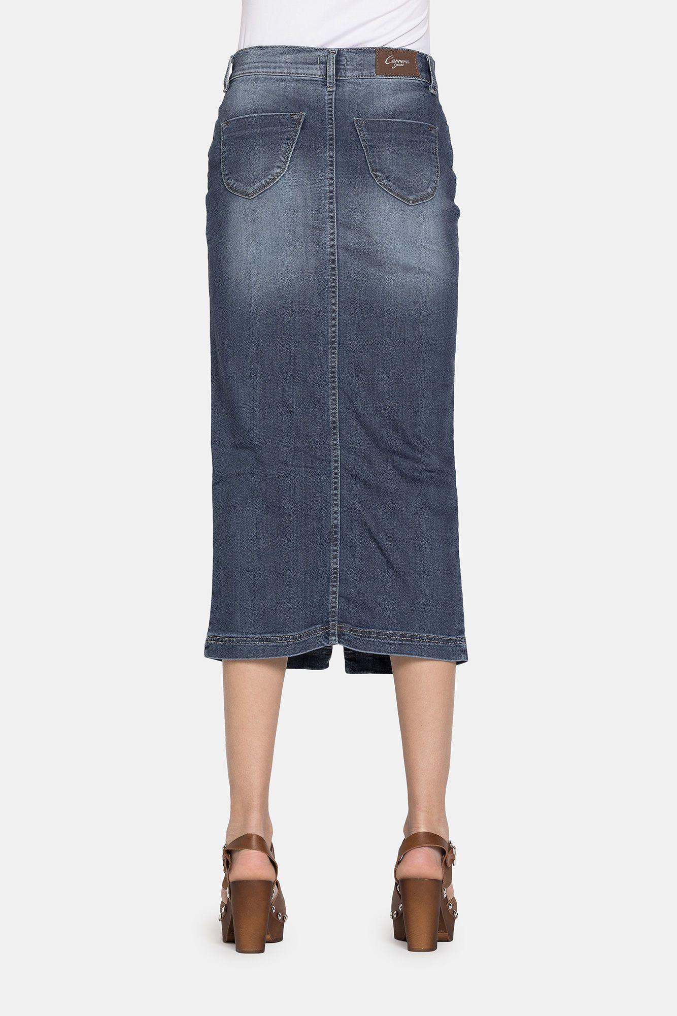 Carrera Jeans Gonna lunga in jeans super stretch Cod